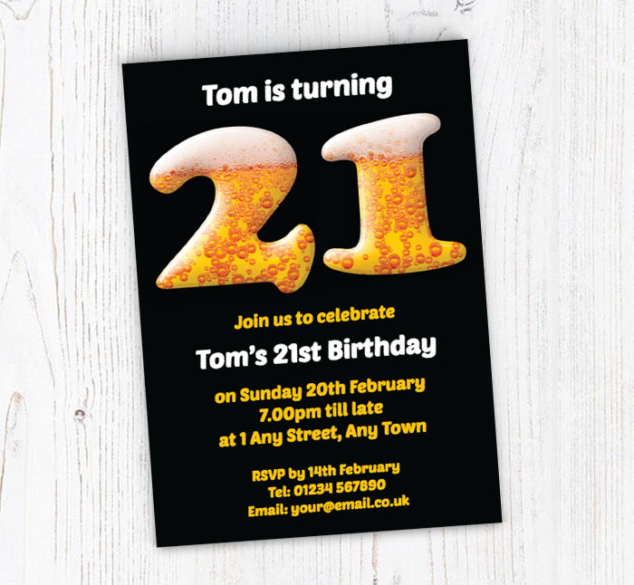 21st Birthday Beer Party Invitations