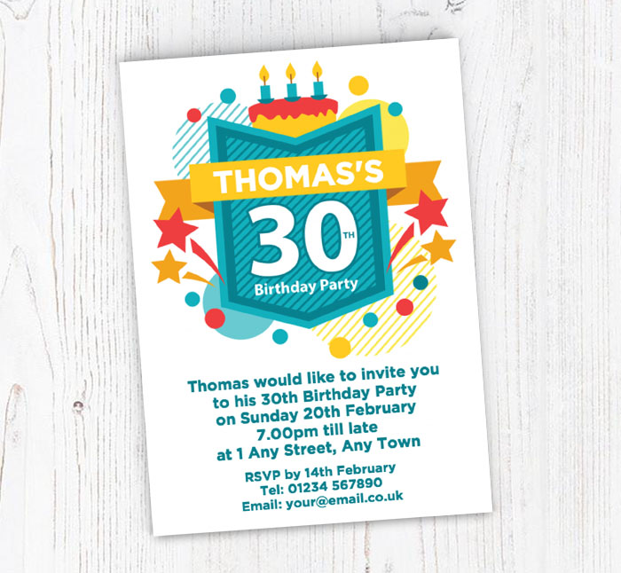 30th Celebration Party Invitations
