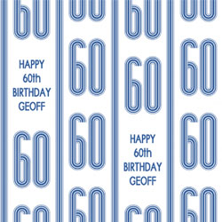 60th vertical stripes wrapping paper
