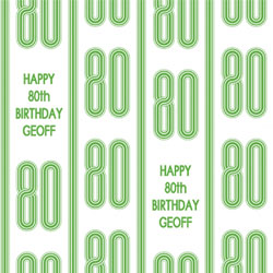 80th vertical stripes wrapping paper