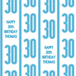 30th vertical stripes wrapping paper
