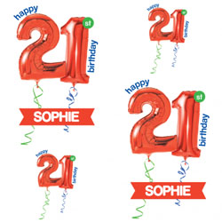 21st red balloon wrapping paper