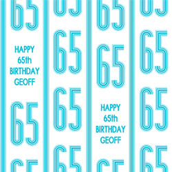 65th vertical stripes wrapping paper