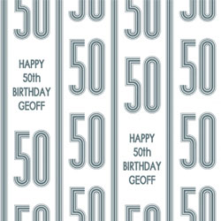 50th vertical stripes wrapping paper