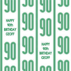90th Vertical Stripes Wrapping Paper