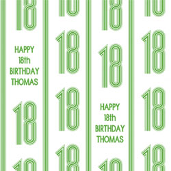 18th vertical stripes wrapping paper