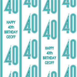 40th vertical stripes wrapping paper