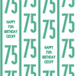 75th vertical stripes wrapping paper