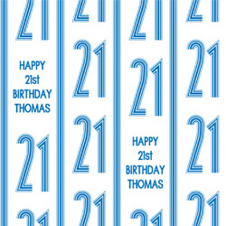 21st vertical stripes wrapping paper