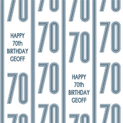 70th vertical stripes wrapping paper