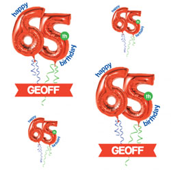 65th red balloon wrapping paper