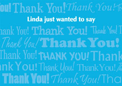 blue thank you cards