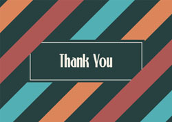 stripes thank you cards