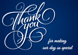 dark blue thank you cards