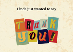 cut out thank you cards