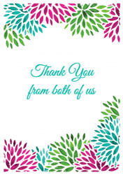 petals thank you cards