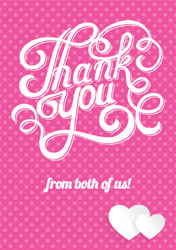 pink dots thank you cards