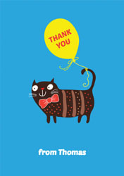 bow tie cat thank you cards