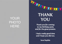 party photo thank you cards