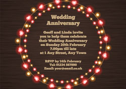 fairy lights anniversary invitations