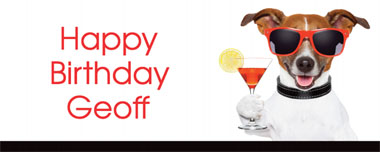 dog cocktail party banner