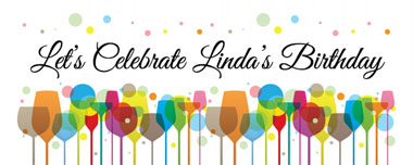 lets celebrate party banner