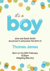dotty baby boy announcements