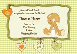 teddy baby announcements