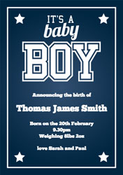 high school baby boy announcements