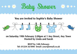 clothes baby shower invitations