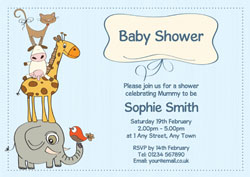 animals baby shower invitations