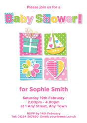 letters baby shower invitations