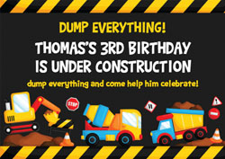 dump everything party invitations