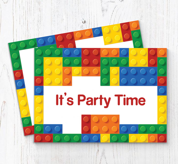 This is a photo of Printable Lego Invitations in design