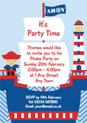 pirate on ship party invitations customise online plus free