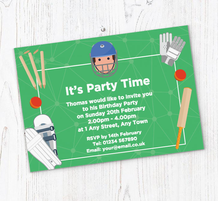 Invitation For Corporate Cricket Tournament: Cricket Icons Party Invitations