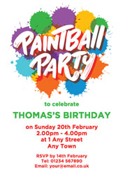 personalised paintball party invitations