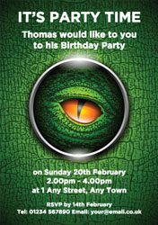 dinosaur eye party invitations