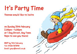 snow tubing party invitations