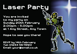 Quasar Party Invitations Customise Online Plus Free Envelopes and