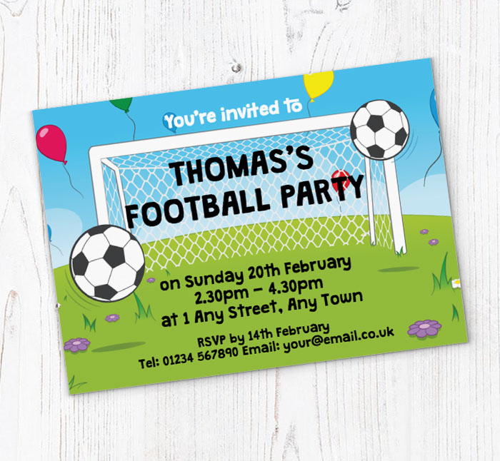 graphic relating to Free Printable Football Invitations known as soccer celebration invites