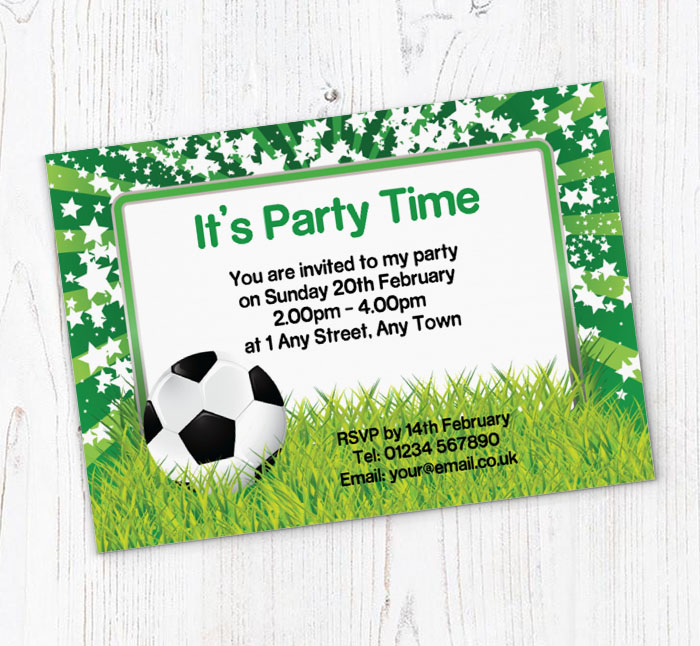 image relating to Free Printable Football Invitations called soccer and famous people invites
