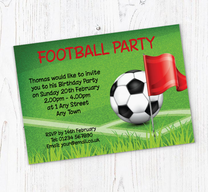 Football Corner Flag Party Invitations