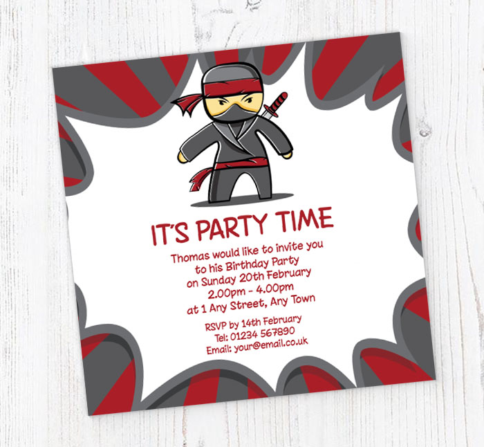 Ninja Party Invitations Unique Birthday Party Ideas And Themes