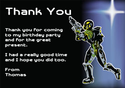 laser quest thank you cards