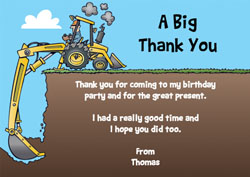 digger thank you cards