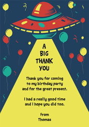 ufo thank you cards