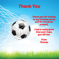 back of the net thank you cards