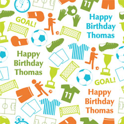 football icons wrapping paper