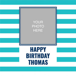 blue striped photo wrapping paper